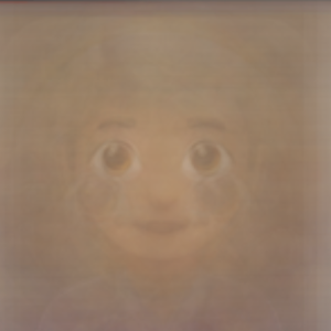 An emoji but only the eyes are really visible, the rest is a blurred overlay of many Emojis on top of each over.